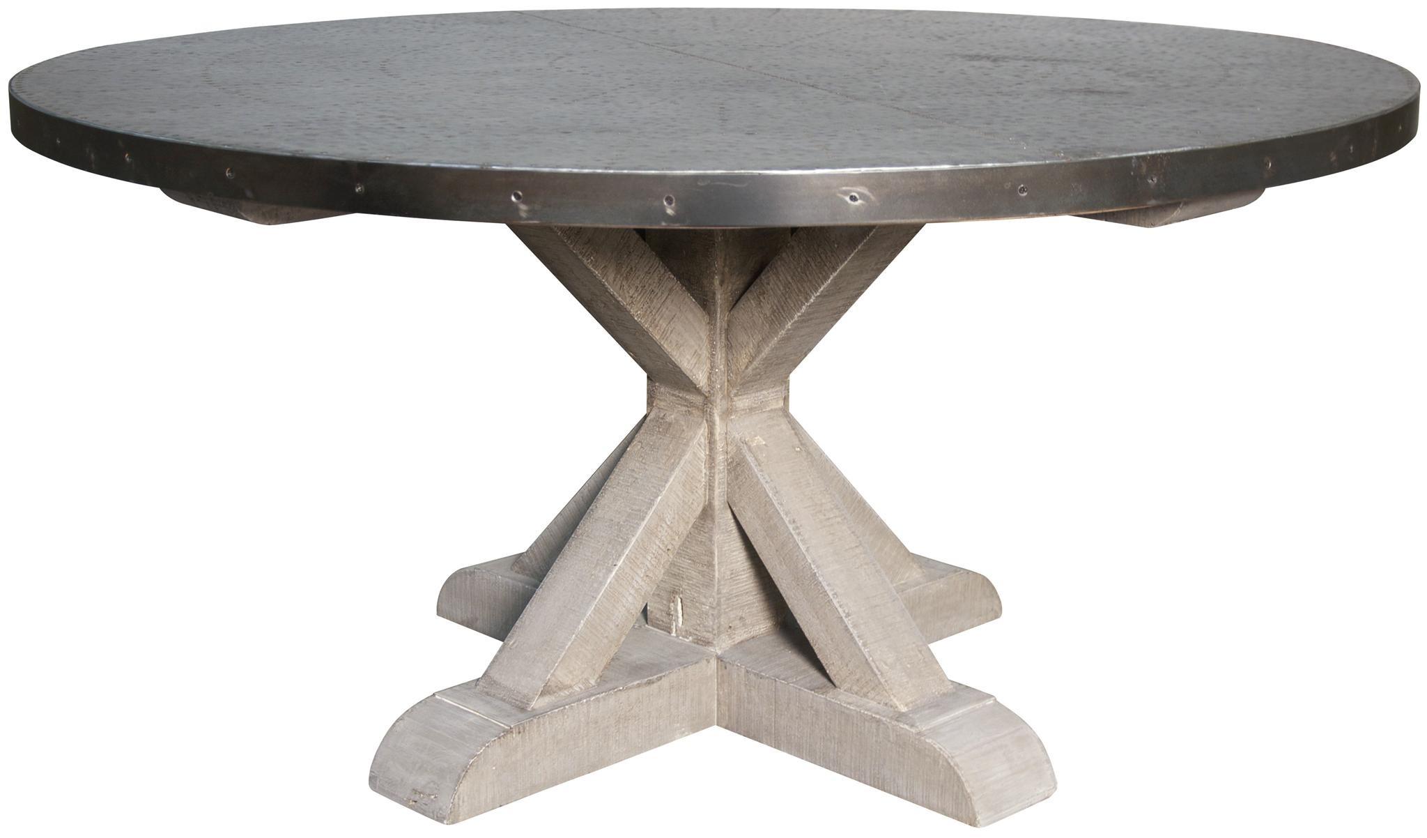 noir zinc top round table Tuvalu Coastal Home Furnishings