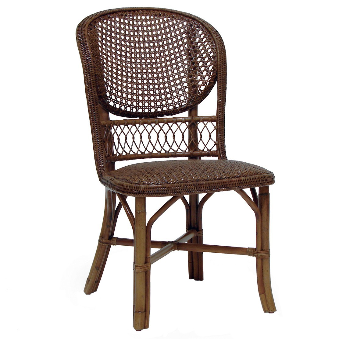 Incroyable Palecek Antique Cane Side Chair