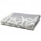 eco tumbling starfish reversible throw blanket aluminum