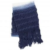 pine cone hill ombre crochet indigo throw blanket