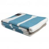 eco paddles throw blanket aqua