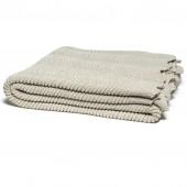 eco pointelle throw blanket flax