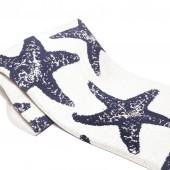 eco sea star throw blanket slate