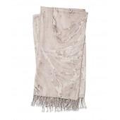 nika beige & brown throw blanket