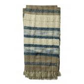 iris collection grey & navy throw blanket