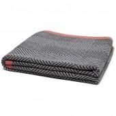 eco woven square throw blanket aluminum