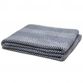 eco woven square throw blanket slate