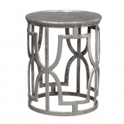 palecek kim silver side table