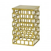 palecek emmet side table, gold