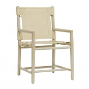 palecek whiskey dining arm chair