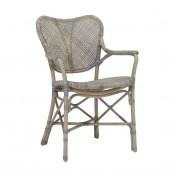 palecek jordan arm chair, grey