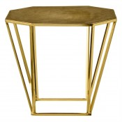 gold pentagonal table