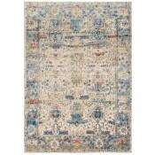 anastasia collection sand & light blue rug