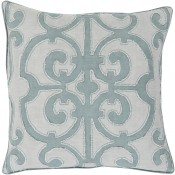surya amelia teal pillow