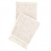 pine cone hill anka ivory throw