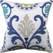 banyan blue pillow