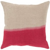 surya dip dyed pillow in bright red
