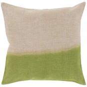 surya dip dyed pillow in grass green