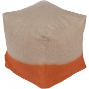 surya dip dyed pouf in burnt orange