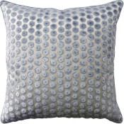 gem velvet aqua pillow