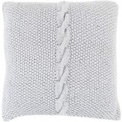 surya genevieve pillow in silver gray