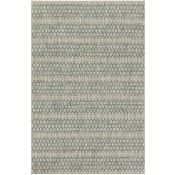 isle collection grey & teal lattice polypropylene rug