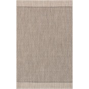 isle collection grey & black chevron polypropylene rug