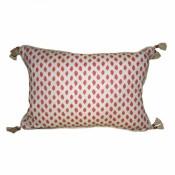 lacefield sahara geranium lumbar pillow with tassels