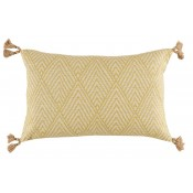 lacefield tahitian stitch lemongrass lumbar pillow with tassels