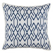 lacefield zoe navy pillow with white eyelash trim