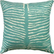le zebre aqua pillow