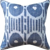 mesa ikat blue pillow