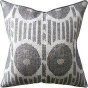 mesa ikat grey pillow