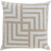 surya metallic stamped maze pillow