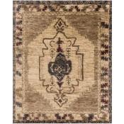 nomad collection mocha & beige rug