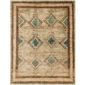 nomad collection aqua & beige rug