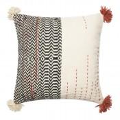 dhurri style tassel pillow