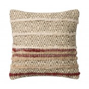 heavy jute dhurri style chevron diamond pillow