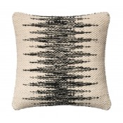 black & ivory abrade pillow