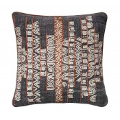 abstract aztec applique pillow