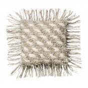 diagonal stripe fringe pillow