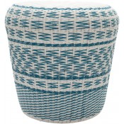 surya parkdale sky blue outdoor stool