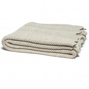 eco pointelle throw blanket flax