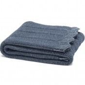 eco pointelle throw blanket slate