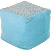 surya atlas pouf in aqua