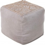 surya atlas pouf in medium gray