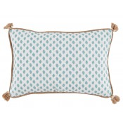 lacefield sahara mineral lumbar pillow with tassels and burlap pipe