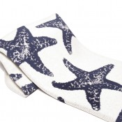 eco sea star throw blanket slate