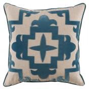 lacefield sultana applique glass velvet on heavy basket pillow
