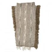 aida collection silver throw blanket